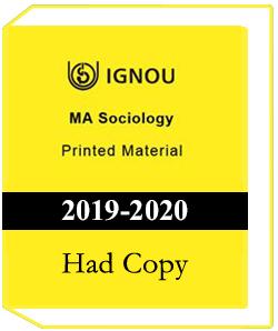 MA Sociology Printed Material