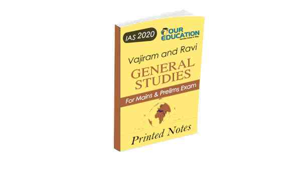 Printed notes of Vajiram & Ravi General studies for UPSC IAS exam