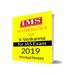 Printed notes of Mathematics K.Venkanna IAS and IFOS Notes IMS Delhi