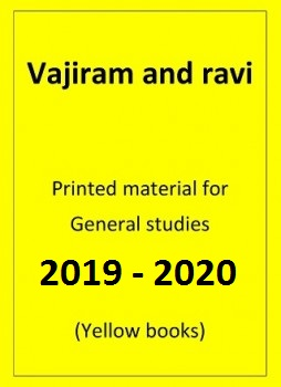 General Studies Printed notes Vajiram and Ravi yellow books for IAS Main Examination