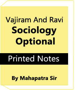 Sociology Optional Mahapatra Sir Vajiram And Ravi