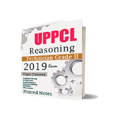 Printed Notes of UPPCL Book For Technician Grade II Reasoning