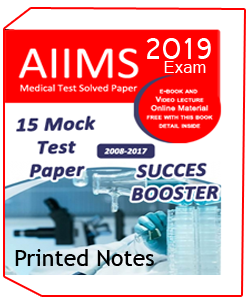 Printed Notes of 15 MOCK TEST PAPER FOR AIIMS MEDICAL EXAM