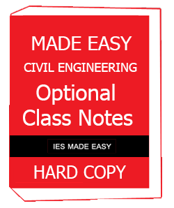 Made Easy Optional Class Notes – Civil Engineering