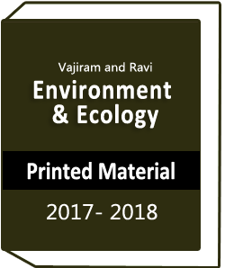 Environment and Ecology Printed Material by Vajiram and Ravi
