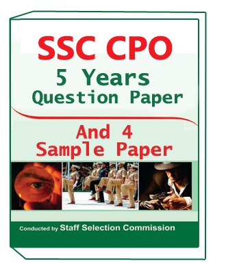 SSC CPO 5 Year Question Paper And 4 Sample Paper