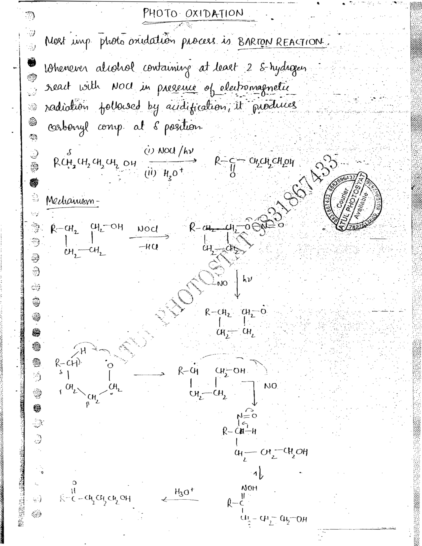 DIAS Coaching CHEMISTRY Optional handwritten Notes