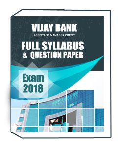 VIJAY BANK ASSISTANT MANAGER CREDIT EXAM FULL SYLLABUS AND QUESTION PAPER 2018