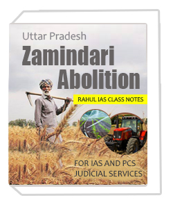 Uttar Pradesh Zamindari Abolition RAHUL IAS Print NOTES FOR IAS AND PCS JUDICIAL SERVICES