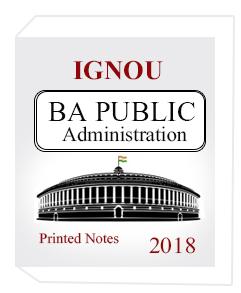IGNOU- BA Public Administration Printed Notes