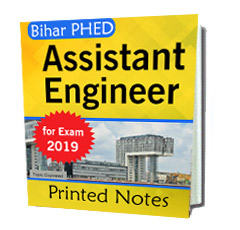Printed notes for Bihar PHED , Hard copy for Bihar PHED