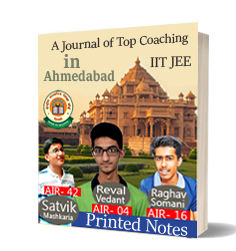 Printed notes of Best IIT JEE Coaching in Ahmedabad Journal