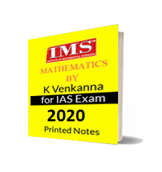 Mathematics K.Venkanna IAS and IFOS Notes IMS Delhi