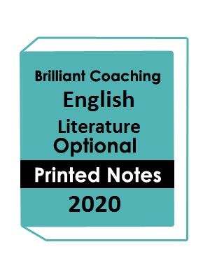 Brilliant Tutorials IAS English Literature Optional Printed Notes 2020