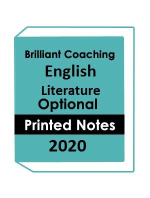Brilliant Tutorials IAS English Literature Optional Printed Notes 2020